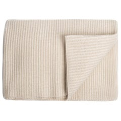 Ben Soleimani Ribbed Cashmere Oversized Throw - Ivory