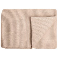 Ben Soleimani Ribbed Cashmere Throw - Sand
