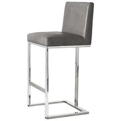 Ben Soleimani Savanna Bar Stool in Leather - Heather