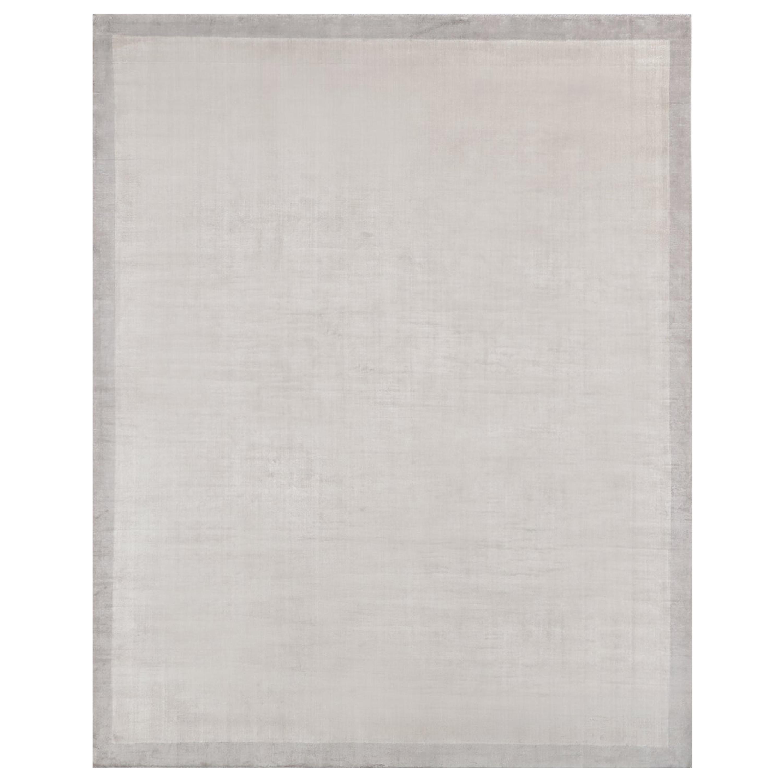 Ben Soleimani Silk Marca Rug– Handwoven Sheen Soft Dark Gray 12'x15'