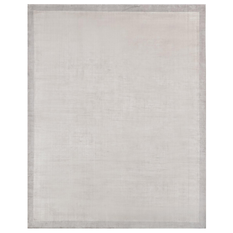 Ben Soleimani Silk Marca Rug– Handwoven Sheen Soft Dark Gray 6'x9'