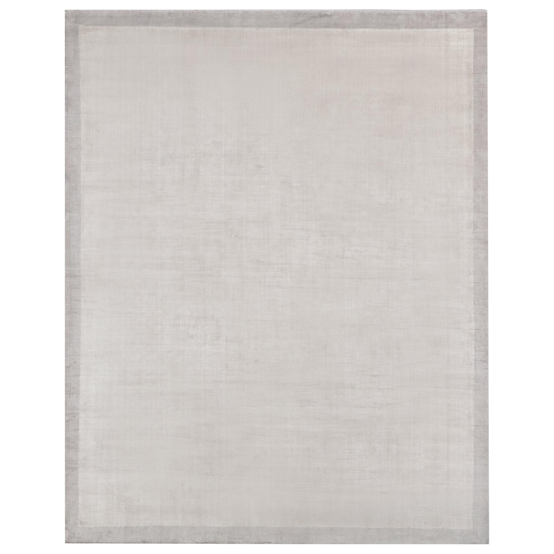 Ben Soleimani Silk Marca Rug– Handwoven Sheen Soft Dark Gray 8'x10'