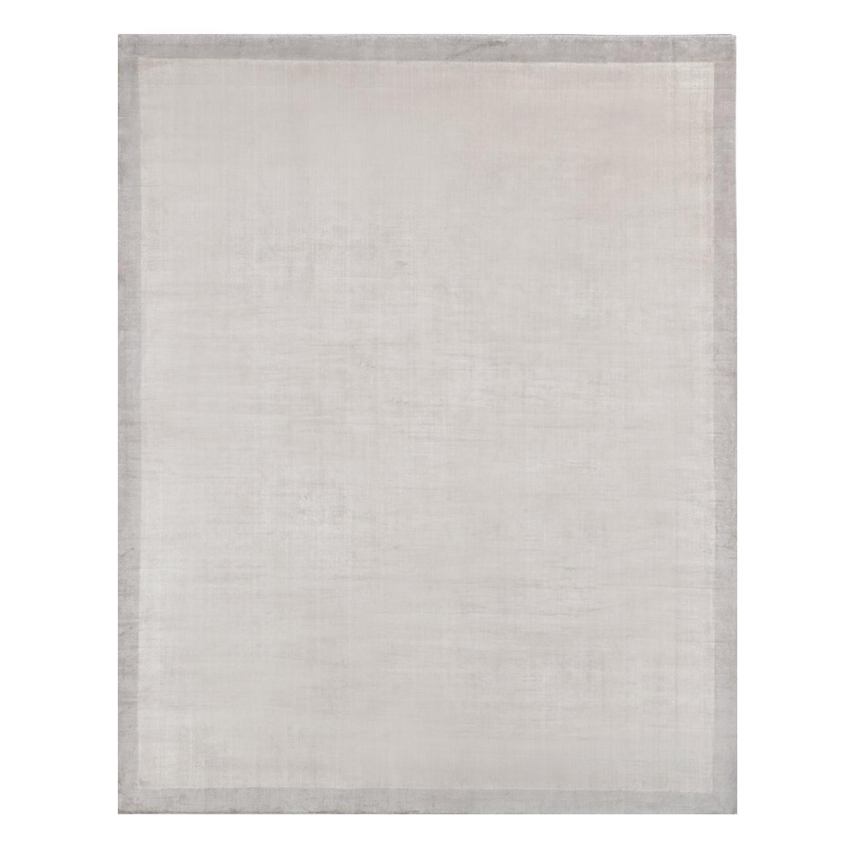 Ben Soleimani Silk Marca Rug– Handwoven Sheen Soft Dark Gray 9'x12'