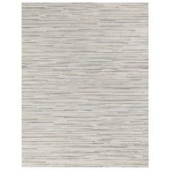 Ben Soleimani South American Cowhide Stripe Rug - Steel 8'x10'
