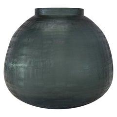 Ben Soleimani Tarro Handblown Vase in Ocean Blue - Large