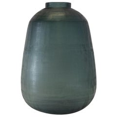 Ben Soleimani Tarro Handblown Vase in Ocean Blue - Medium