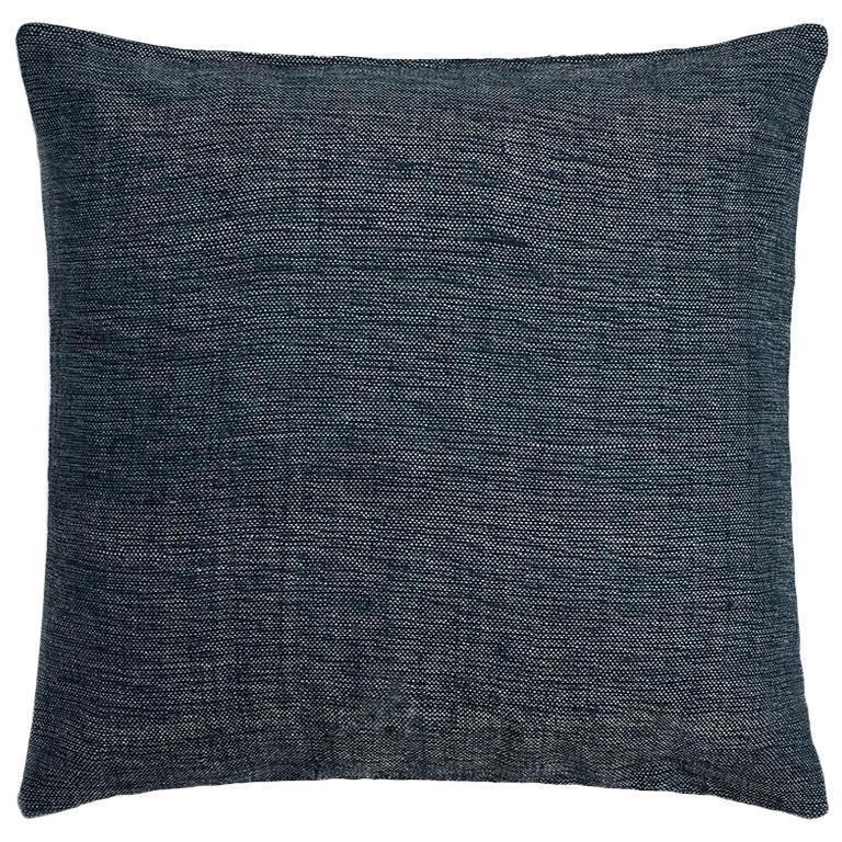 "Ben Soleimani Textured Pillow Cover - Indigo 22""x22"" For Sale"
