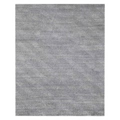 Ben Soleimani Vello Rug– Hand-knotted Wool + Viscose Ash/Silver 6'x9'