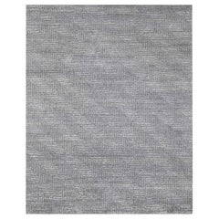 Ben Soleimani Vello Rug– Hand-knotted Wool + Viscose Ash/Silver 9'x12'