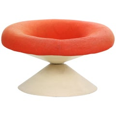 "Ben Swildens ""Diablo"" Chair Fiberglass and Original Condition, 1960s Netherlands"