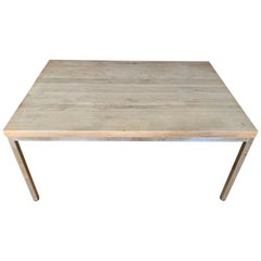 Design Research Butcher Block Parsons Dining Table