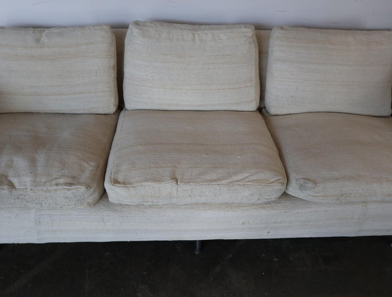 Cotton Ben Thompson for Design Research Mid-Century Modern Sofa For Sale