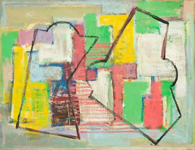 Ben Wilson Abstract Painting - Bird's Eye View, ca. 1990