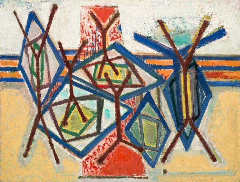 Ben Wilson Abstract Painting - Fandango, ca. 1985