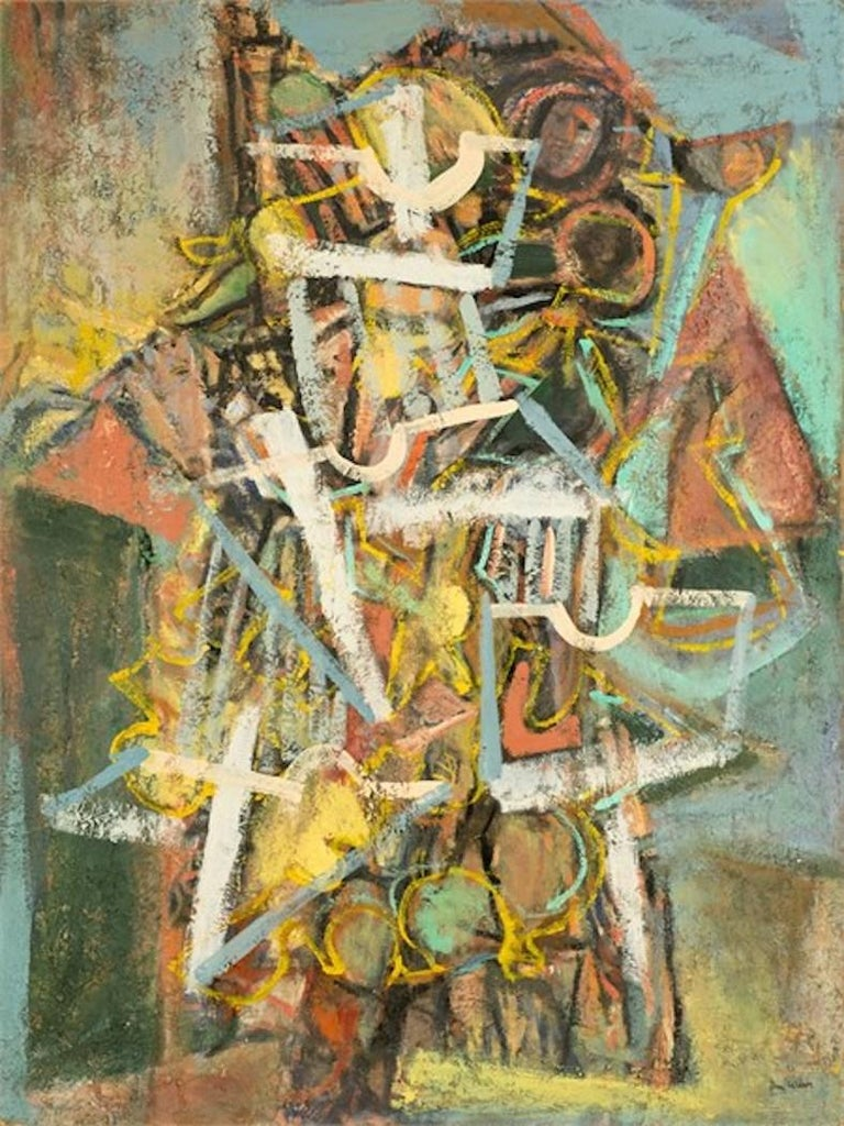 Ben Wilson Abstract Painting - Untitled, 55