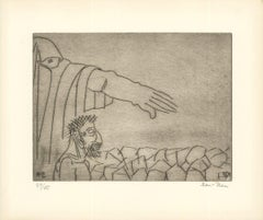 1966 Ben-Zion 'Gilgamesh Goes to His Mother (XXXV)' Gray Etching