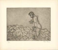 1966 Ben-Zion 'Gilgamesh Meets Deceased Enkidu's Shadow, Inquires About Death
