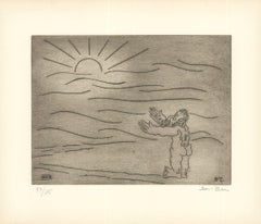 1966 Ben-Zion 'Gilgamesh Then Sees a Shimmer of the Sun (XXXIII)' Gray Etching