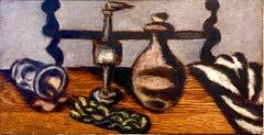 Expressionist Judaica Havdalah Oil Painting Jewish American Modernist Ben Zion