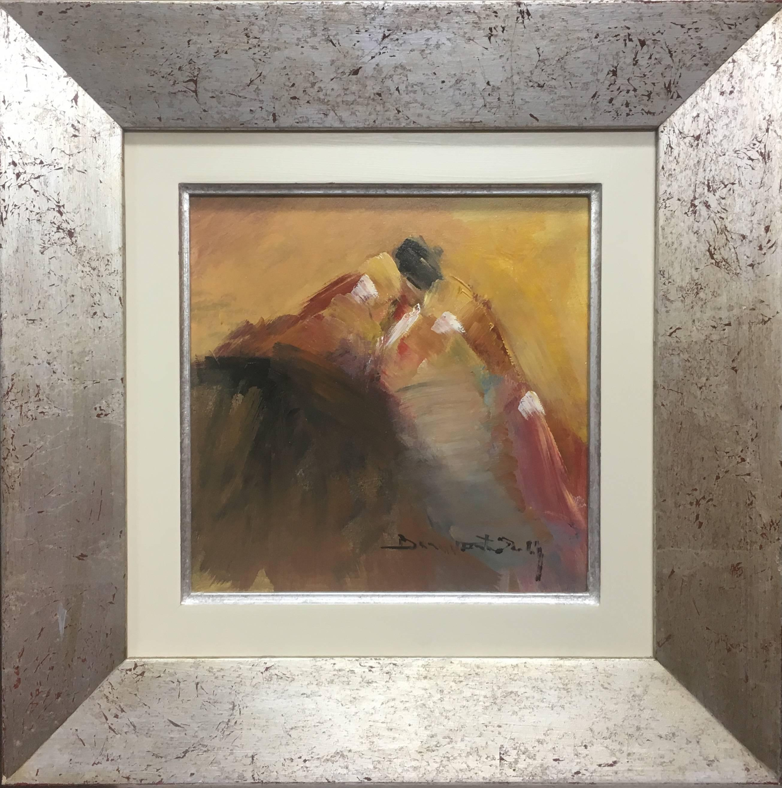 Tauromaquia Bullfight and bull - original expressionist acrylic painting