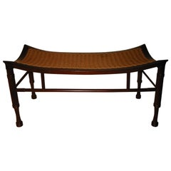 Bench and Pair of Thebes Stools by Liberty and Co.