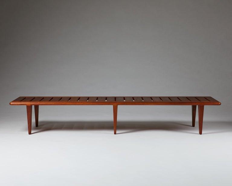 Scandinavian Modern Bench by Hans Wegner, Denmark, 1950s For Sale