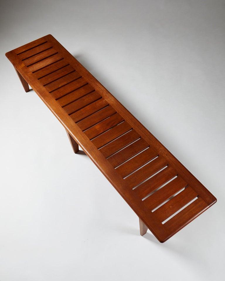 Teak Bench by Hans Wegner, Denmark, 1950s For Sale