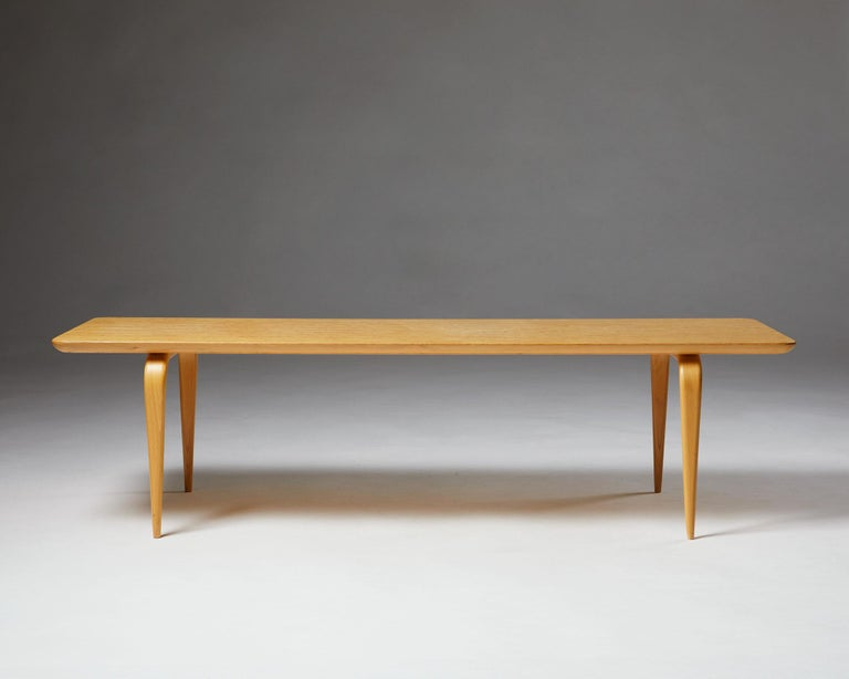 """Mid-20th Century Bench/Coffee Table """"Annika"""" Designed by Bruno Mathsson For Sale"""