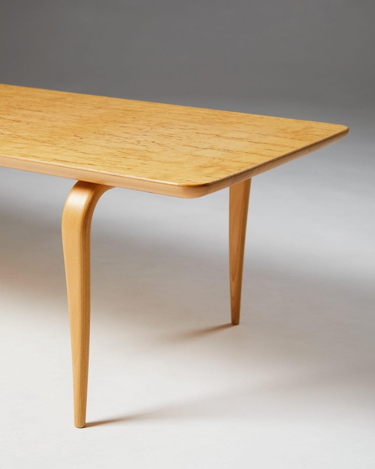 """Birch Bench/Coffee Table """"Annika"""" Designed by Bruno Mathsson For Sale"""