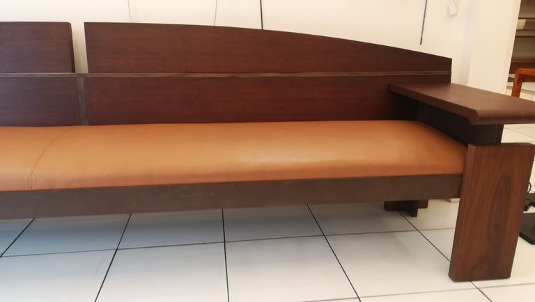 Mid-Century Modern Bench from the French Senat, Palais du luxembourg, circa 1970 For Sale