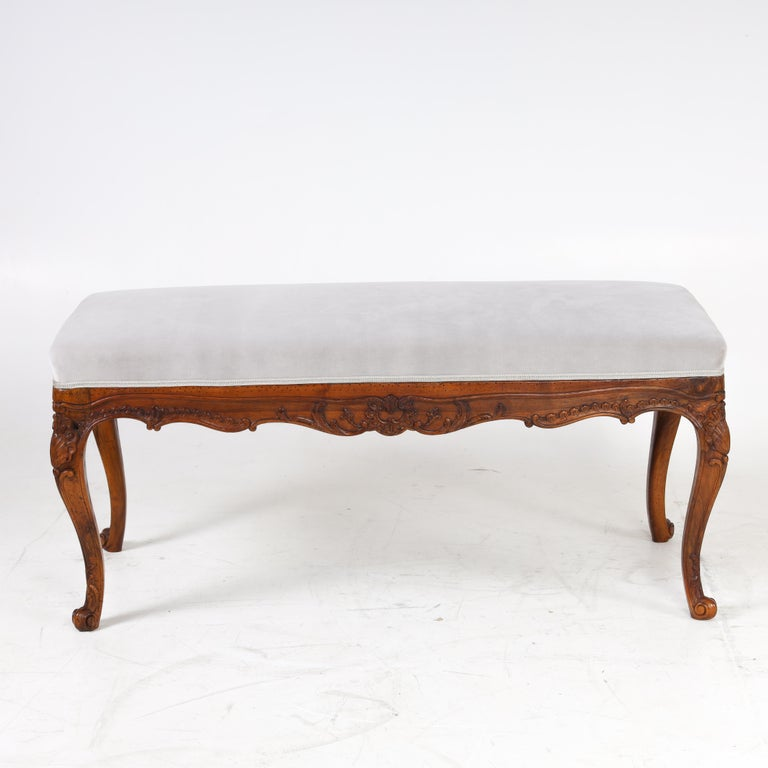 German Bench in Baroque Style, 19th Century For Sale