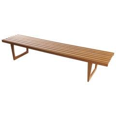 Bench in Solid Oak, Tokyo, by Yngvar Sandström for NK, Sweden