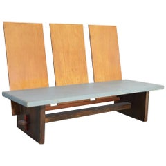 Bench in the Manner of Gerrit Rietveld