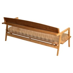Bench in Tropical Hardwood and Cord by Ricardo Graham Ferreira
