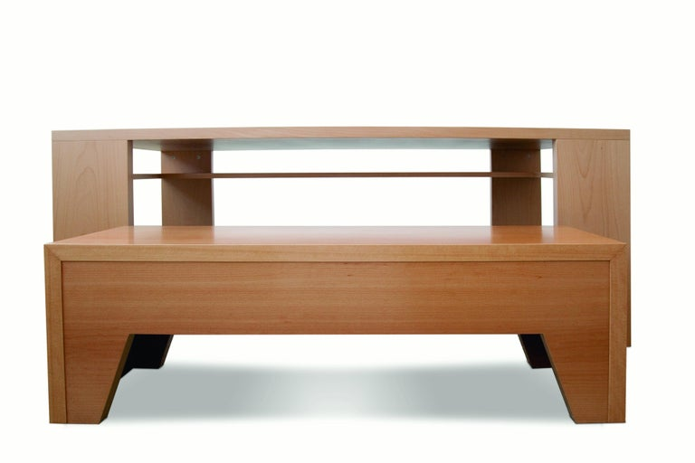 21st Century, Minimalist, European, Bench Made of Lined Beechwood in Light Brown In New Condition For Sale In Tinos, Cyclades