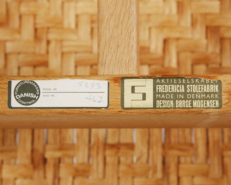 Cane Bench Model 5273 Designed by Börge Mogensen for Fredericia Stolefabrik For Sale