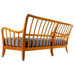 Bench Seette Seat by Thonet, Attributed to Josef Frank, Wood, 1940