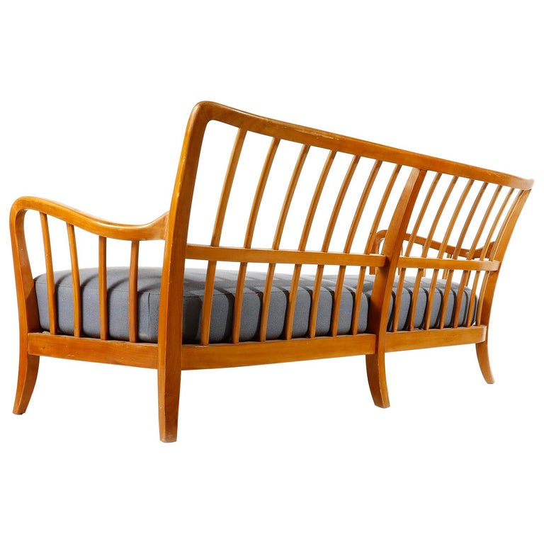 Bench Seette Seat by Thonet, Attributed to Josef Frank, Wood, 1940 For Sale