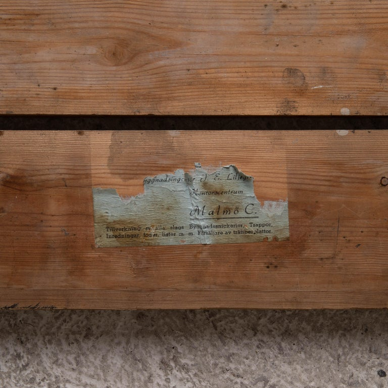 Wood Bench Swedish 20th Century Workers Bench, Sweden For Sale
