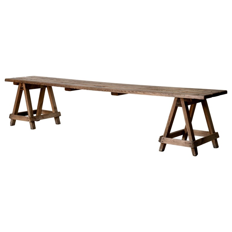 Bench Swedish 20th Century Workers Bench, Sweden For Sale