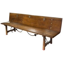 Bench, Walnut, Iron, 17th Century
