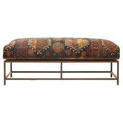 Bench with Antique Rug Upholstery