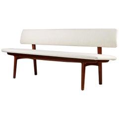Bench with Backrest Designed by Ejnar Larsen & Axel Bender Madsen, 1957