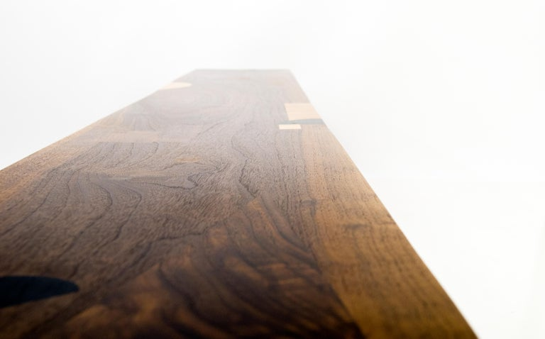 Bench with Inlays and Exquisite Detailing, Poet's Bench by Birnam Wood Studio  In New Condition For Sale In Ridgewood, NY