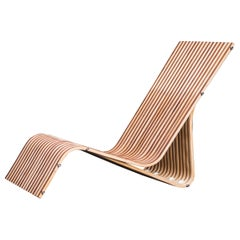 Bend Natural Wood Rest Chair by Obiect, Mexican Contemporary Design
