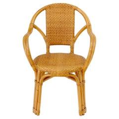 Bendt bamboo rattan desk arm chair