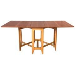 Bendt Winge Designed Drop-Leaf Dining Table for Kleppe Møbelfabrik