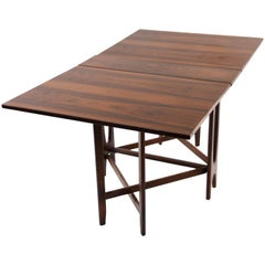 Bendt Winge Drop-Leaf Rosewood Table, circa 1960