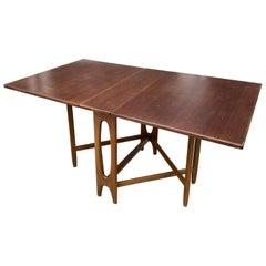 Bendt Winge for Kleppes Mobelfabrikk Walnut Drop-Leaf Table/ Norway