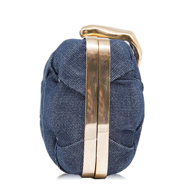 'Authentically imperfect' and 'Made in Italy with love by a young designer', this exceptional Carmen handbag from the Benedetta Bruzziches Spring-Summer 2014 Collection is luxurious yet whimsical and features a quilted denim design, adorned with